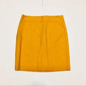 Ann Taylor Yellow Pencil Skirt